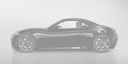 motoring: Sport Car Vehicle Transportation 3D Illustration Concept