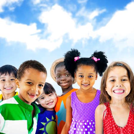 diversity: Diversity Children Friendship Innocence Smiling Concept Stock Photo