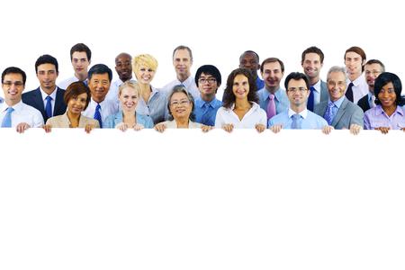 Asociación Cooperación Trabajo en equipo de negocios Banner Concepto Foto de archivo - 49168805