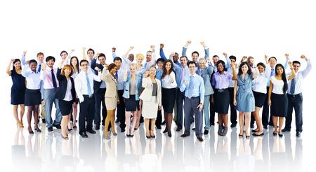 menschenmenge: Menschenmenge Geschäftsleute Erfolg Feiern Teamkonzept