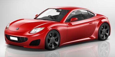 propulsion: Sport Car Vehicle Transportation 3D Illustration Concept