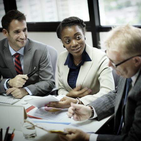diverse: Business Team Meeting Discussion Connection Concept Stock Photo