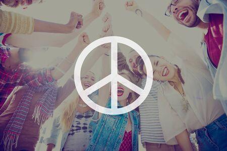 summer fun: Peaceful Liberty Protest Symbol Gradient Concept