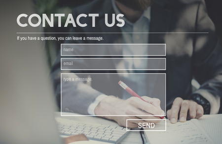 contact person: Contact Us Service Support Information Feedback Concept Stock Photo