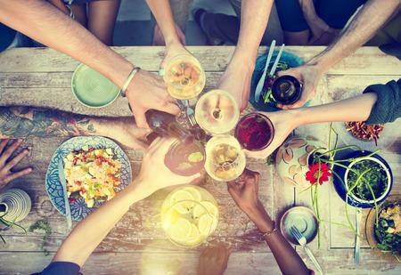 음식 표 건강한 맛있는 유기농 식사 개념