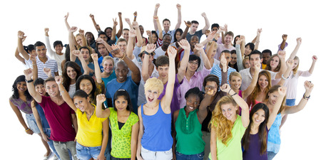 colored school: Group of Students Community Togetherness Concept Stock Photo