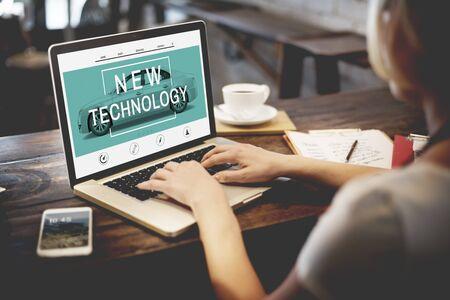 trabajo social: Nueva Tecnolog�a Innovaci�n Mejora Crecimiento Concepto