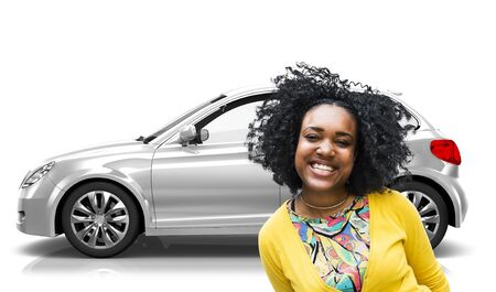 hatchback: Car Vehicle Hatchback Transportation 3D Illustration Concept