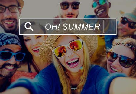 enjoyment: Oh Summer Enjoyment Fun Beach Tropical Concept