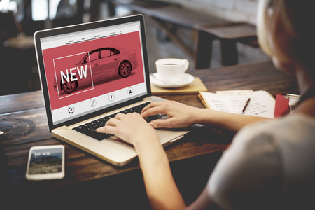 website words: New Innovation Technology Car Homepage Concept