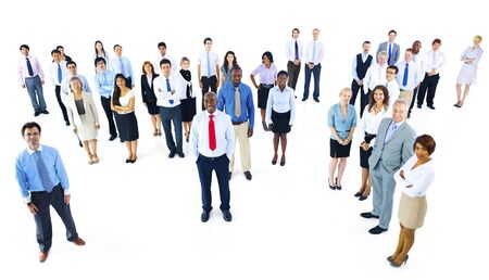 organised group: Collaboration Corporate Cooperation Professional Concept Stock Photo