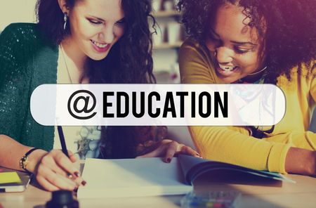 black empowerment: Education E-learning Connection Technology Networking Concept