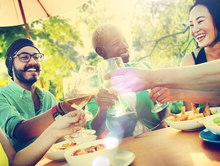 party food: Friends Friendship Outdoor Chilling Togetherness Concept