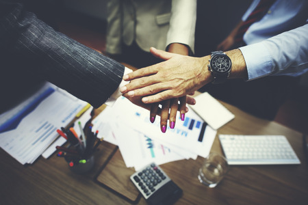 strong partnership: Business Team Teamwork Partnership Together Concept