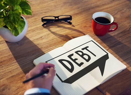 obligation: Debt Obligation Credit Finance Debit Concept Stock Photo