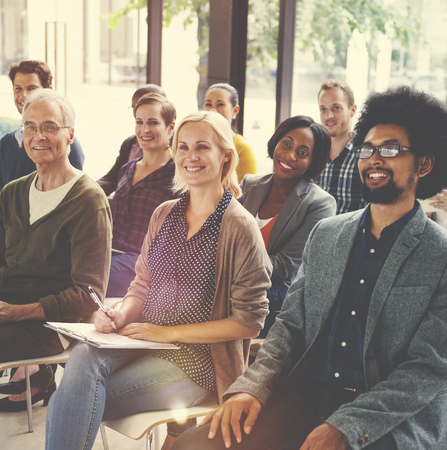 Multi-etnische groep Seminar Training Boardroom Concept