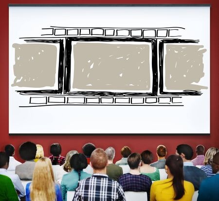 cinematography: Filmstrip Roll Photograph Cinematography Tape Concept