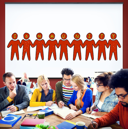 fellowship: Community People Togetherness Fellowship Concept Stock Photo