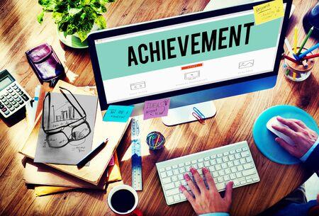 metas: Metas de Logro Destino de éxito Realización Concepto Foto de archivo