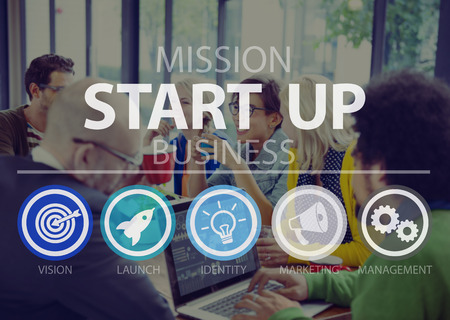 begin: Start Up Opportunity Growth Success Chance Begin Concept