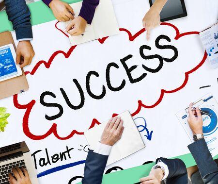 team vision: Success Talent Vision Strategy Goals Concept