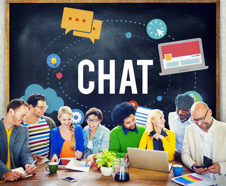 online: Chat Chatting Online Messaging Technology Concept