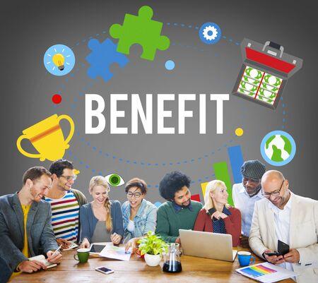 benefit: Benefit Advantage Compensation Reward Bonus Concept
