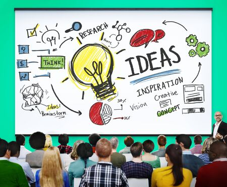 vision concept: Ideas Innovation Creativity Knowledge Inspiration Vision Concept