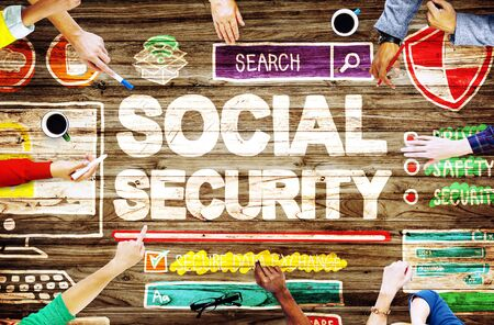 social security: Social Security Welfare Retirement Payment Concept