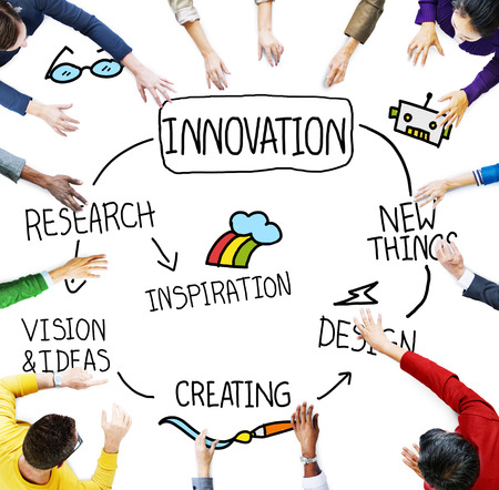 future concept: Innovation Invention Vision Research Future Concept Stock Photo