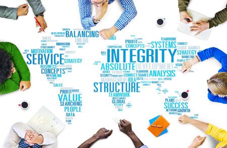 integridad: Honestidad Integridad Sinceridad Confianza Fiabilidad Concept Foto de archivo