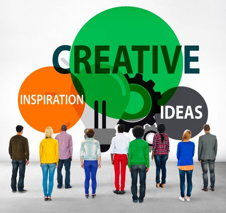 facing backwards: Creative Creativity Create Inspiration Ideas Concept