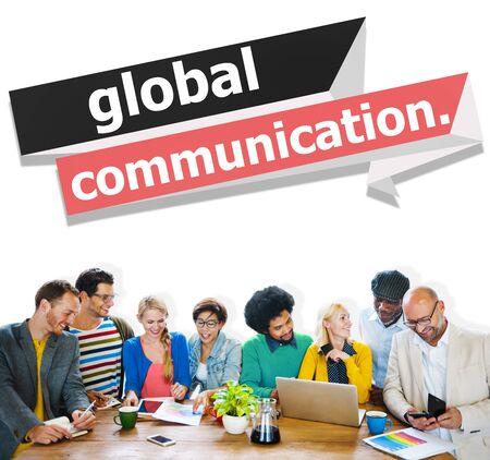 Conexión Global Communications Comunicar Concepto