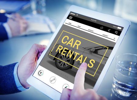 Autoverhuur Rental Enterprise Roadtrip Vervoer Concept