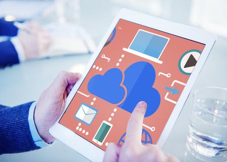 internet cloud: Cloud Computing Network Online Internet Storage Concept