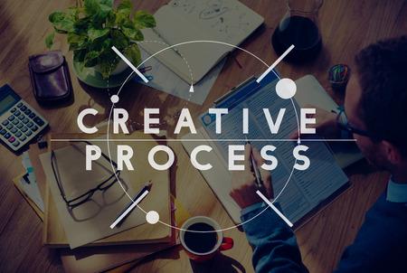 proceso: Proceso Creativo Creatividad Diseño Innovación Concepto Imaginación Foto de archivo