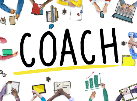 asian business group: Coach Coaching Guide Instructor Leader Manager Tutor Concept