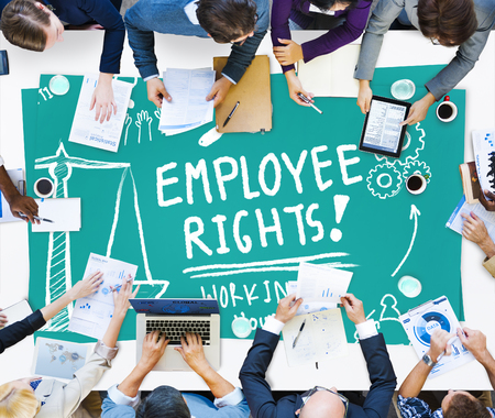 place of employment: Employee Rights Working Benefits Skill Career Compensation Concept Stock Photo