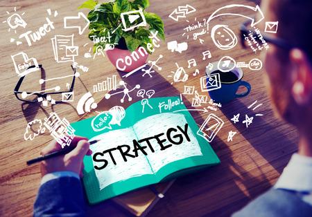 Strategie Online Social Media Networking Marketing Concept Stockfoto