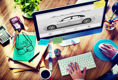 new automobile: Car Automoblie Transportation Vehicle Elegance Concept Stock Photo