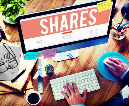 networking people: Shares Information Social Media Networking Concept Stock Photo