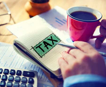 Tax Taxing Taxation Taxable Taxpayer Finance Concept Stock Photo