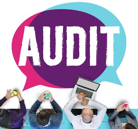 financial audit: Audit Accounting Bookkeeping Finance Inspection Concept