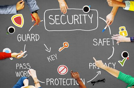 privacidad: Seguridad y Privacidad de Protección Secreto Redes Concepto Foto de archivo