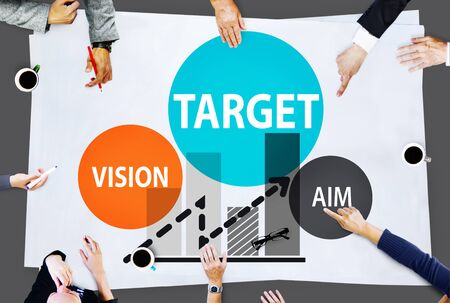 corporate vision: Target Goal Aspiration Aim Vision Vision Concept Stock Photo