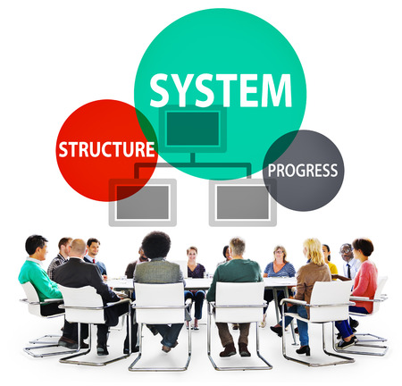System Structure Progress Processing Procedure Concept Stock Photo