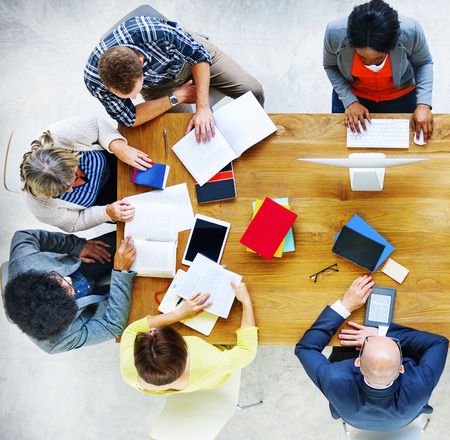 man studying: Group of Diverse Various Occupations People Meeting Concept