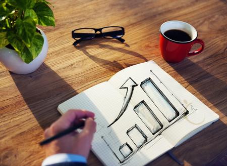 financial concept: Businessman Growth Business Financial Ideas Planning Concept