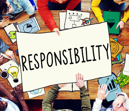 on duty: Responsibility Duty Obligation Job Trustworthy Concept
