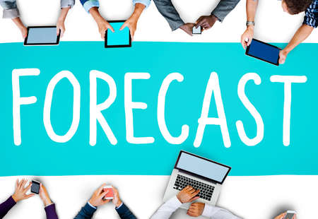 precision: Forecast Prediction Precision Probability Future Concept Stock Photo